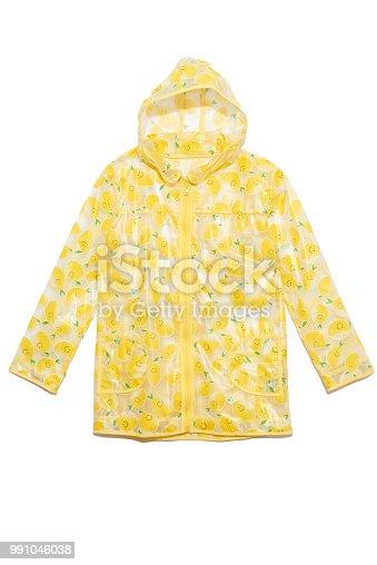 Raincoat isolated on white