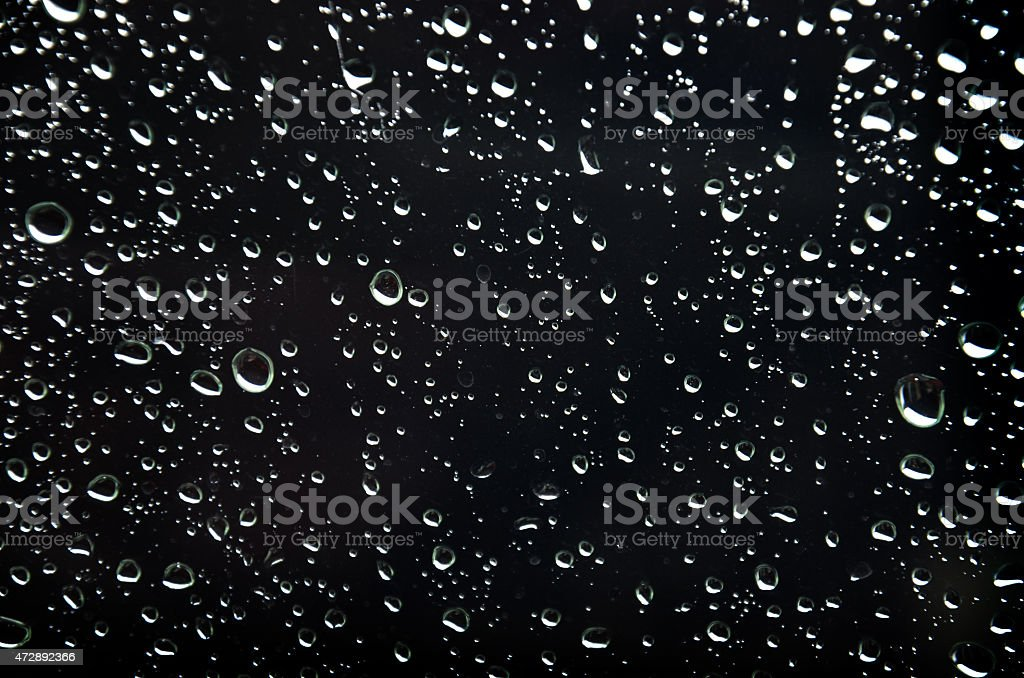 Raindrop on Glass plate Backgrounds stock photo