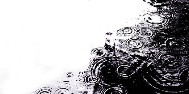 raindrops in a pond - rippled stock pictures, royalty-free photos & images