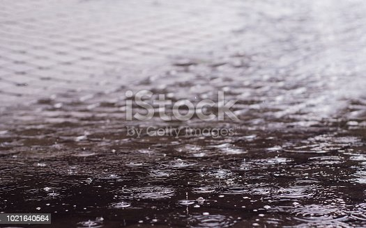 istock raindrops in a puddle 1021640564