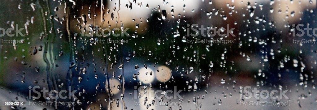 Raindrops in the window stock photo