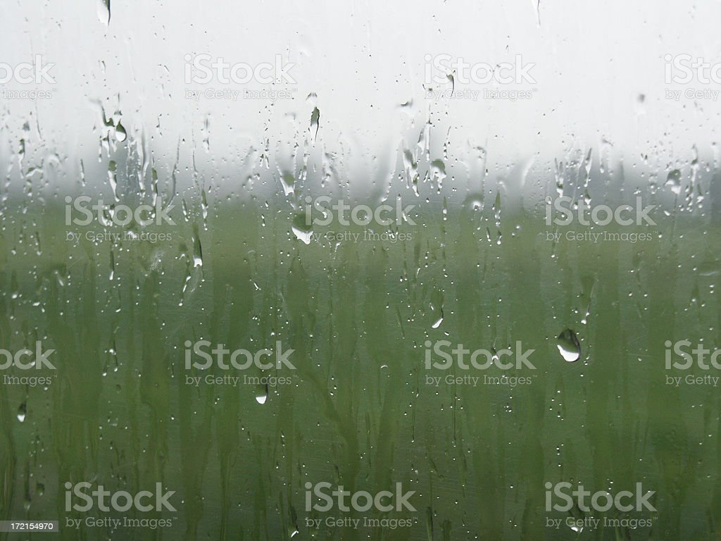 Raindrops keep falling on a window royalty-free stock photo