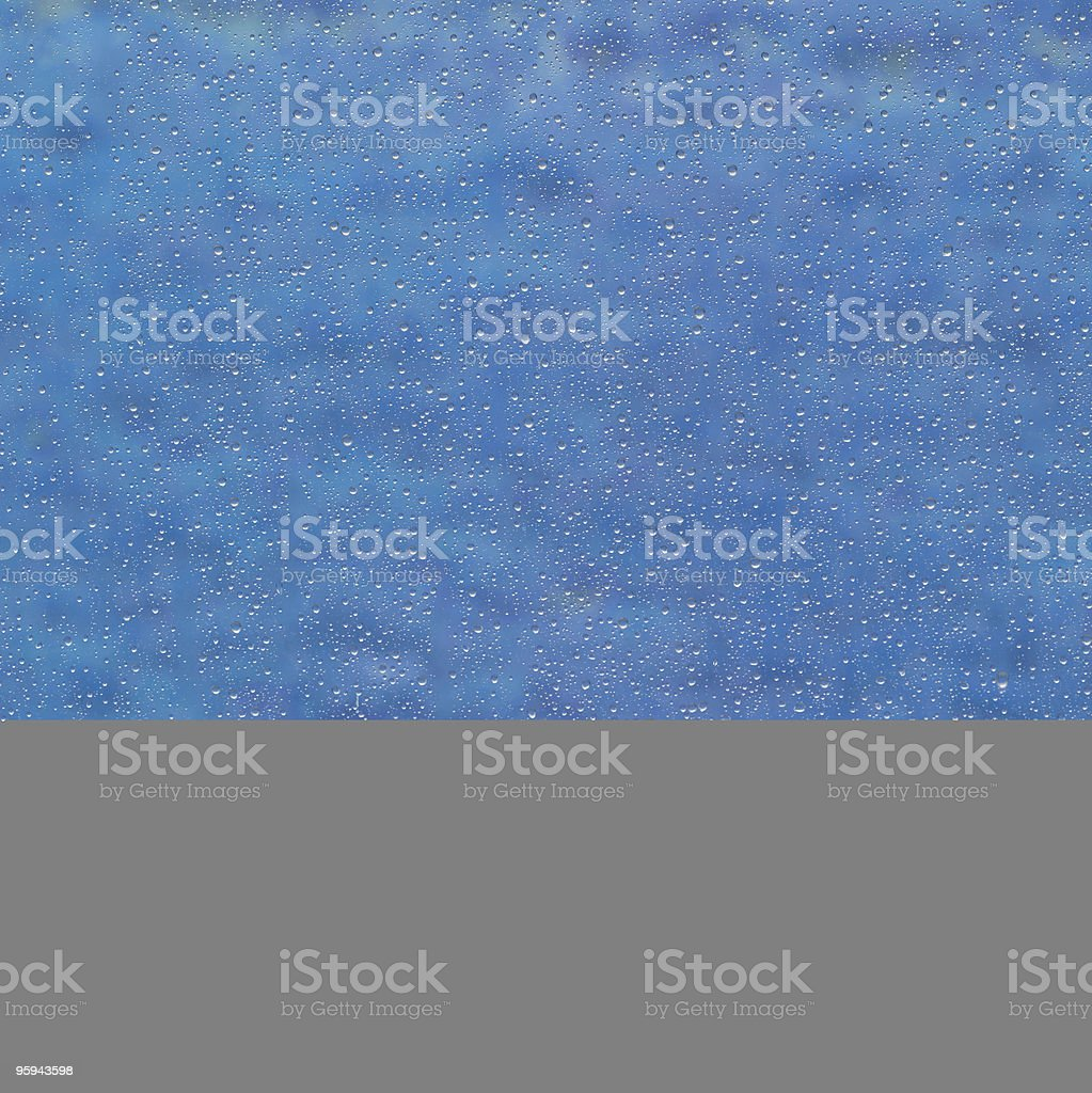 raindrops on a window royalty-free stock photo