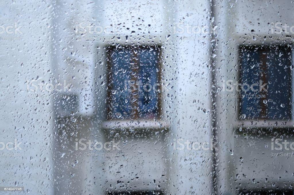 Raindrops On Glass royalty-free stock photo