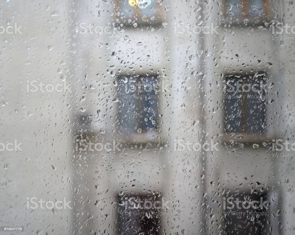 Raindrops On Glass royalty-free stock photo