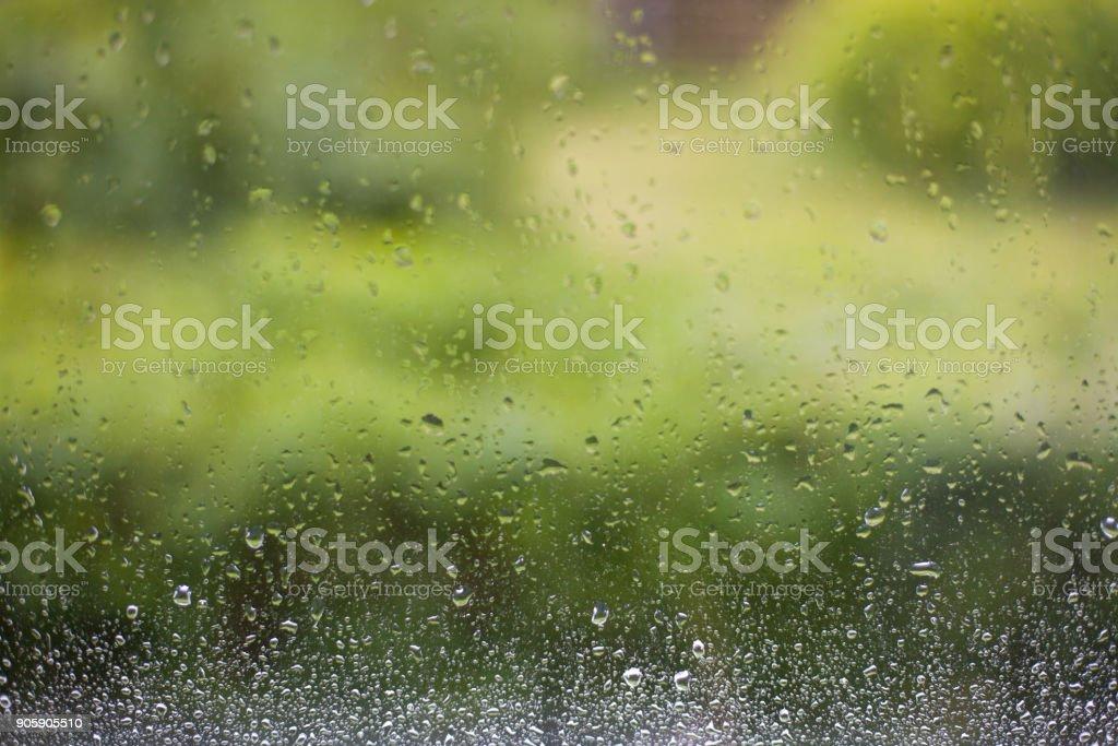 Regentropfen auf dem Glas – Foto