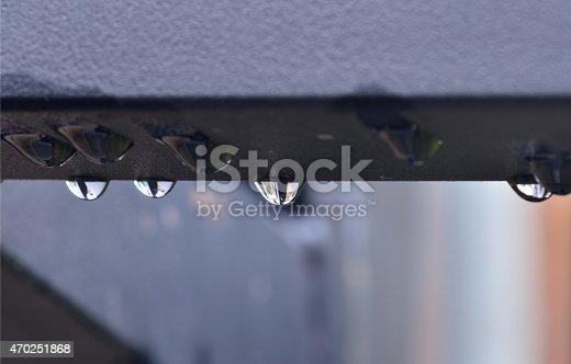 617378218istockphoto Raindrops on the metal 470251868