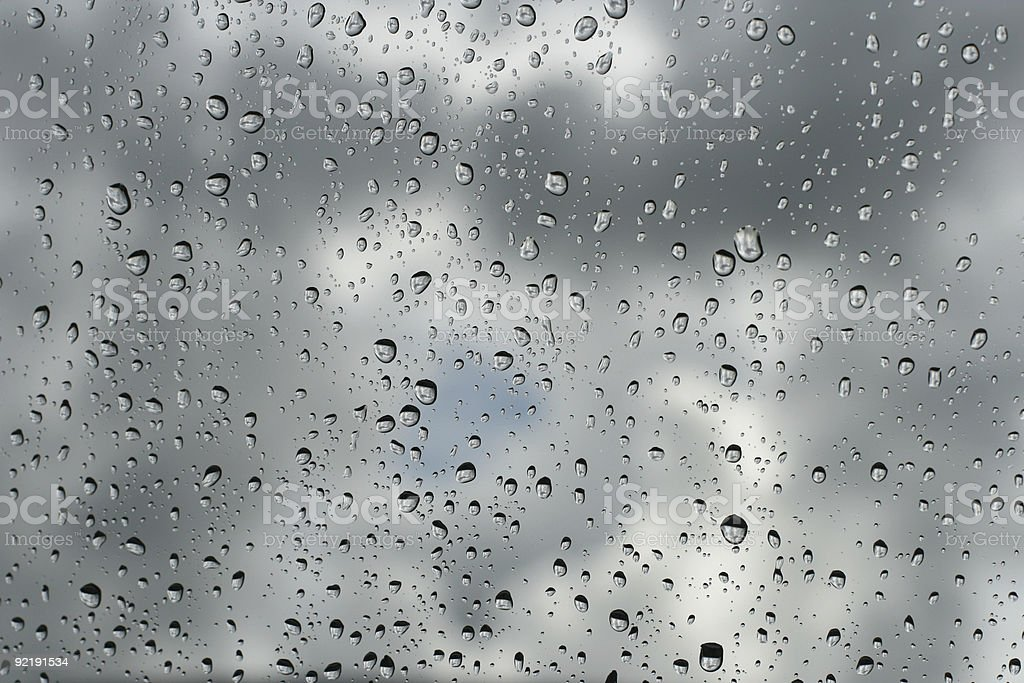 raindrops on the window royalty-free stock photo