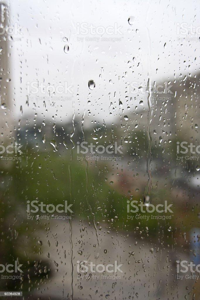 Raindrops on the Window royalty-free stock photo