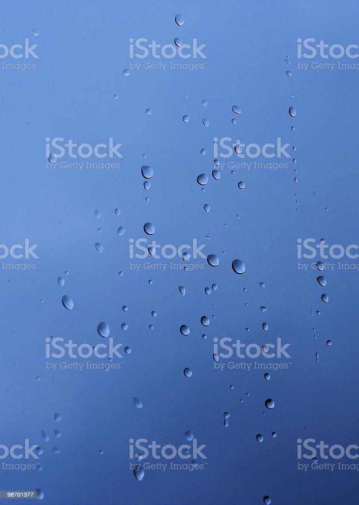 Raindrops on 창 royalty-free 스톡 사진