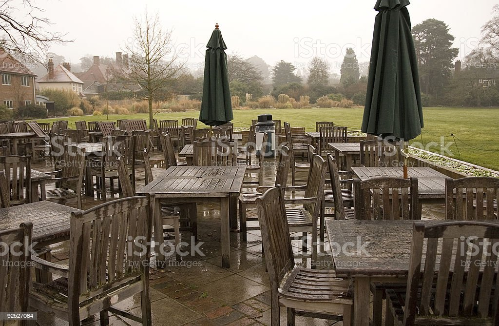 Rained off royalty-free stock photo