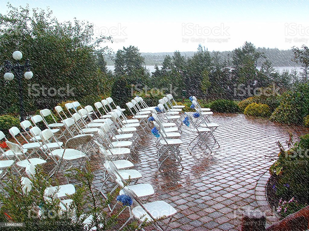 Rained Out Wedding stock photo