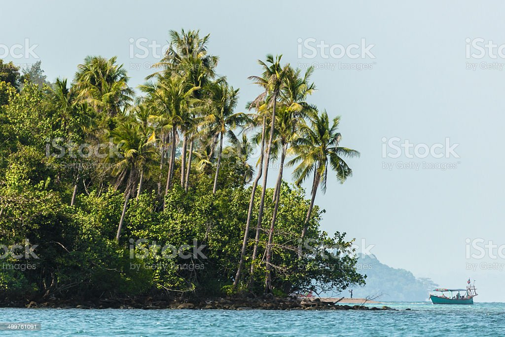 Rainforest Islands in Cambodia stock photo