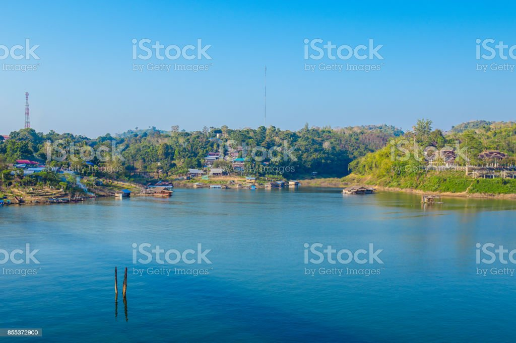 Rainforest, River, Tropical Climate, Water, Asia stock photo