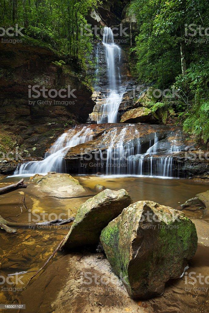 Rainforest waterfalls, Empress Falls, Blue Mountains, New South Wales, Australia royalty-free stock photo