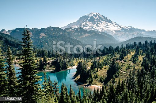 Lakes and upfront views of Mt. Rainier