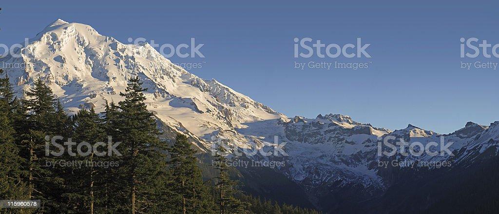 Rainier Panoramic royalty-free stock photo