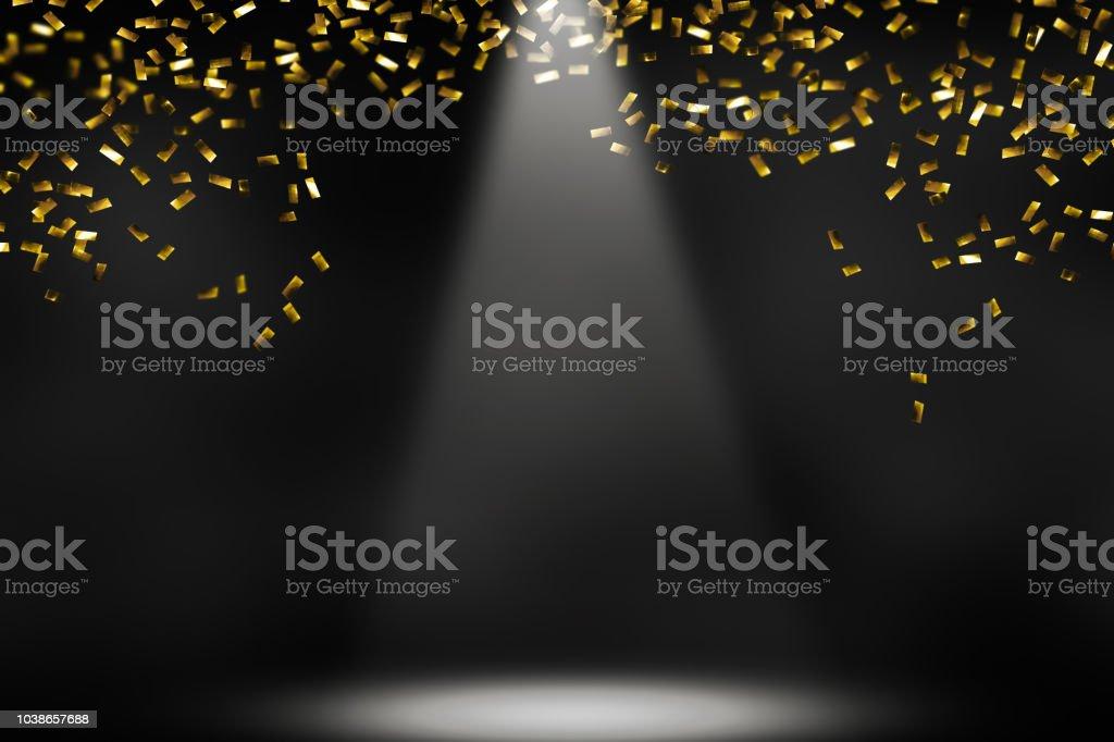 raining confetti stock photo