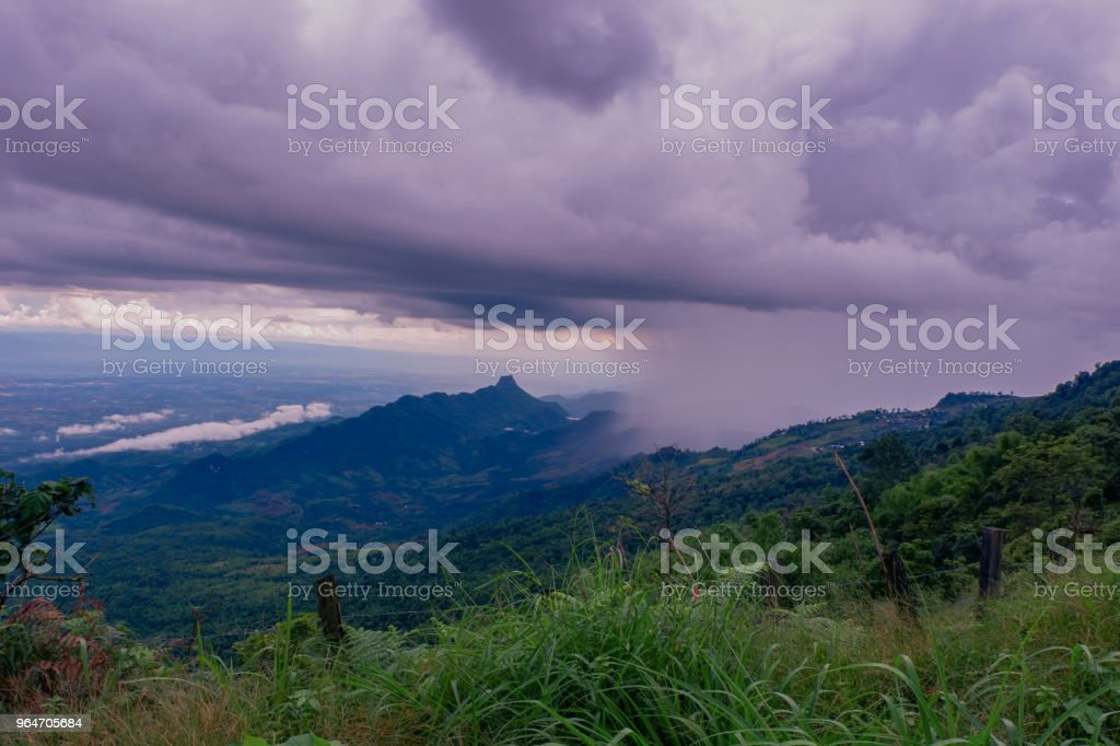 raining in the mountains royalty-free stock photo