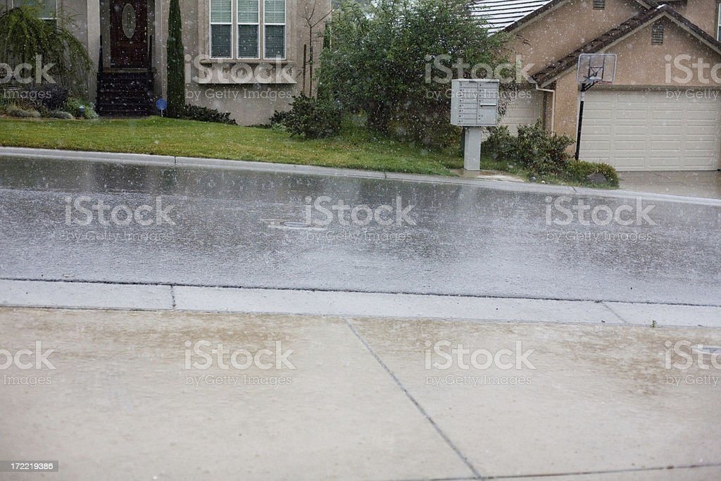 Raining On The Mail Box royalty-free stock photo