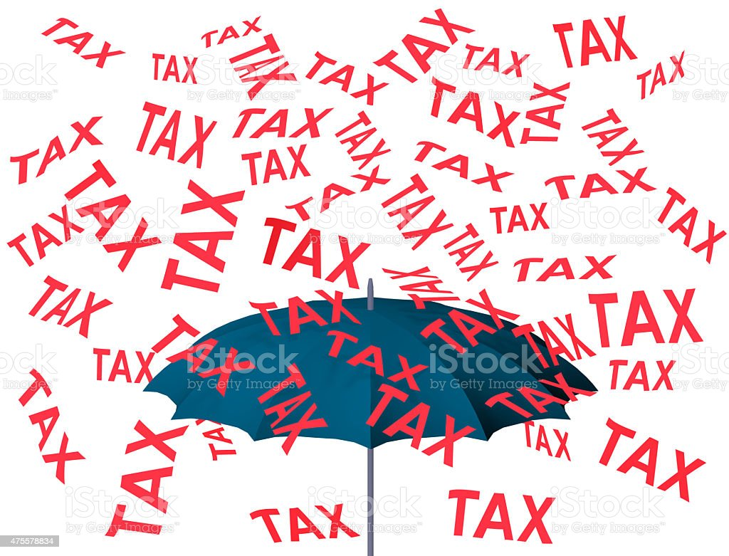 Raining tax stock photo