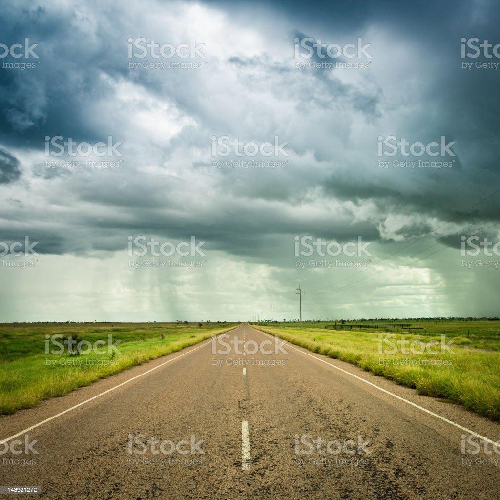 Rainstorm on the Desert, Northern Territory, Australia royalty-free stock photo