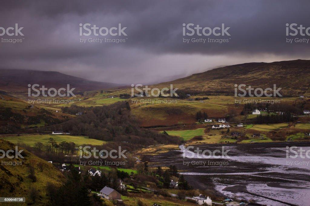 Rainstorm Over Uig, Skye stock photo
