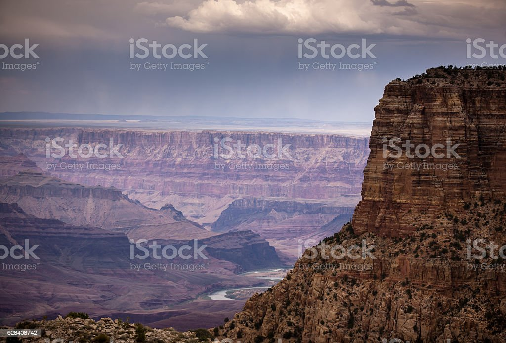 Rainstorm Rolling Over Grand Canyon stock photo