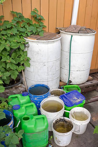 Rainwater Harvesting (garden) stock photo