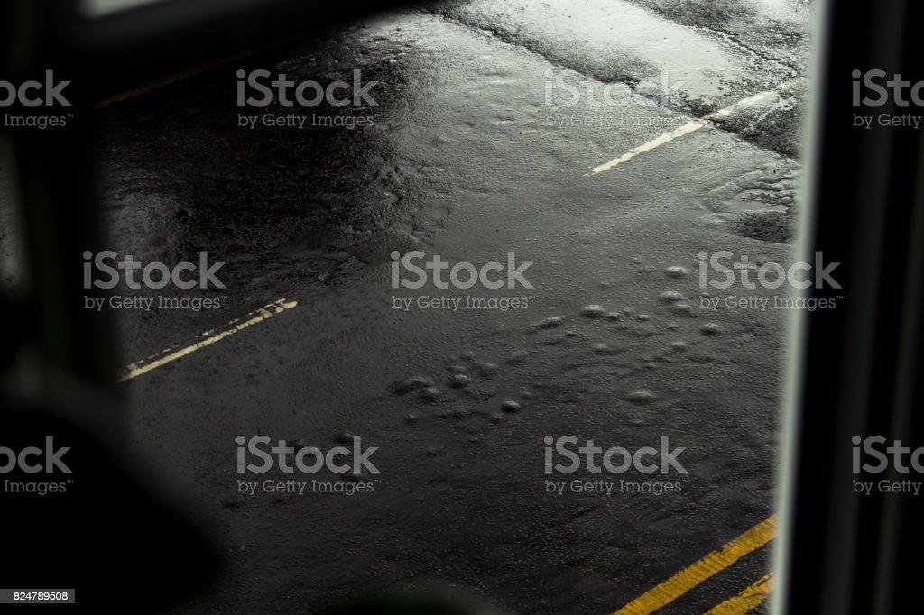 Rainy afternoon, Urban street, UK stock photo