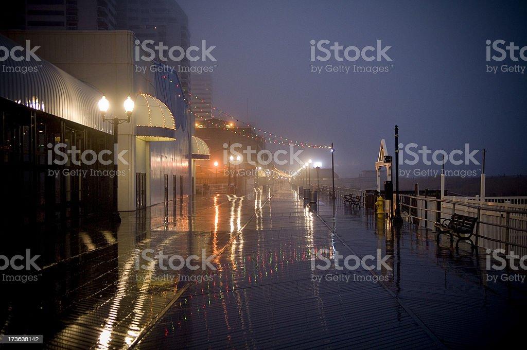 Rainy Atlantic City stock photo