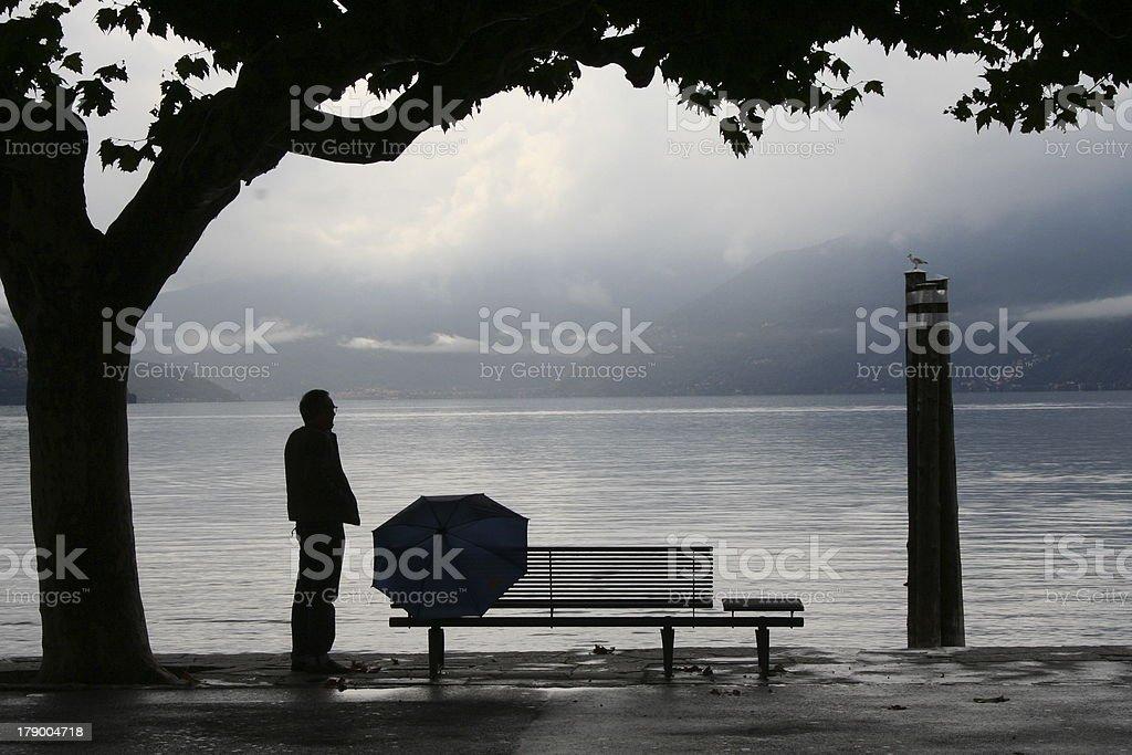 Rainy Autumn Afternoon in Ascona royalty-free stock photo