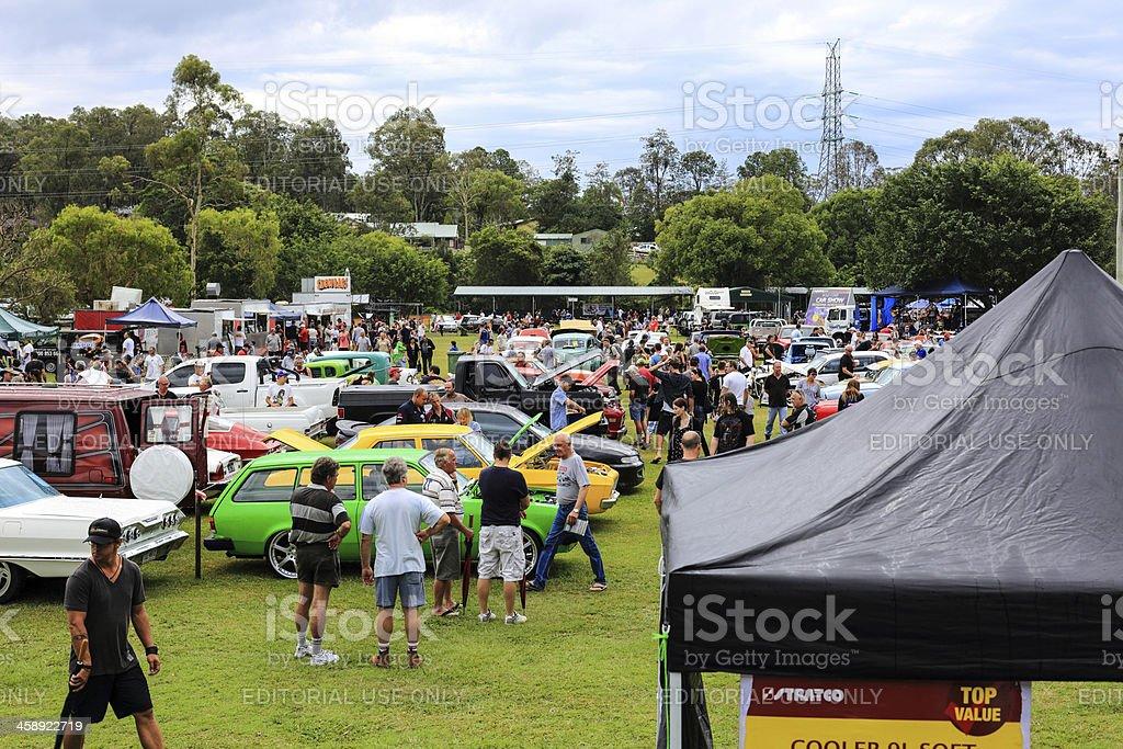 Rainy day Gold Coast car show royalty-free stock photo
