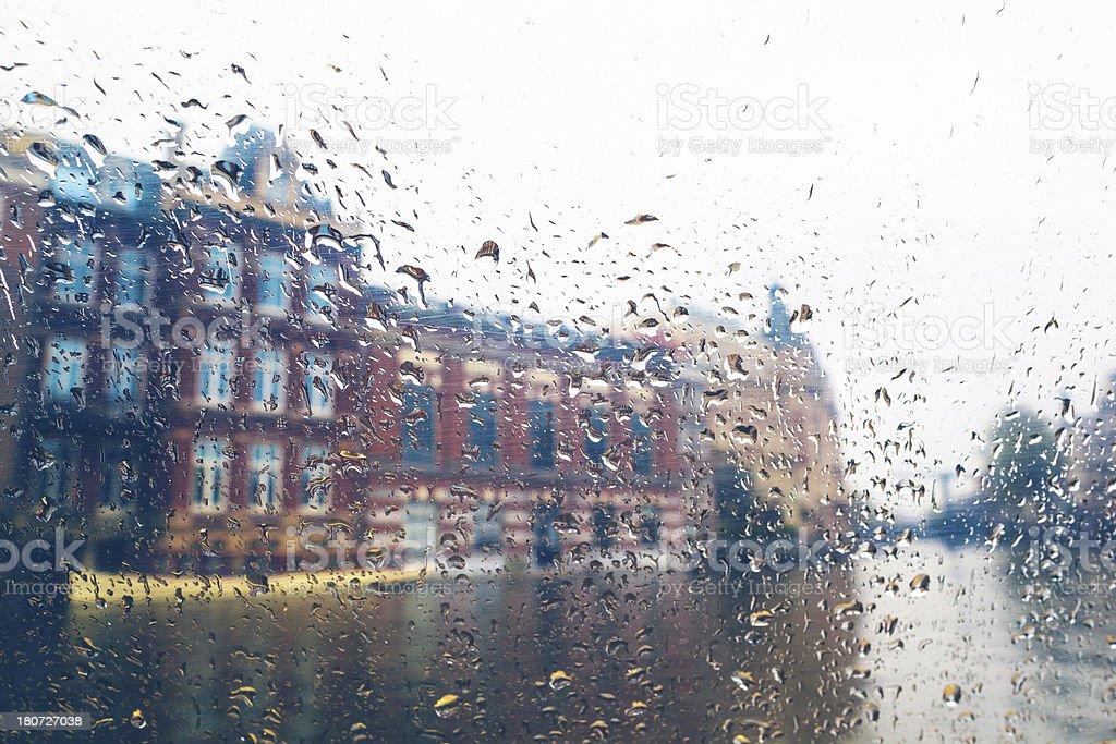 Rainy day in Amsterdam royalty-free stock photo