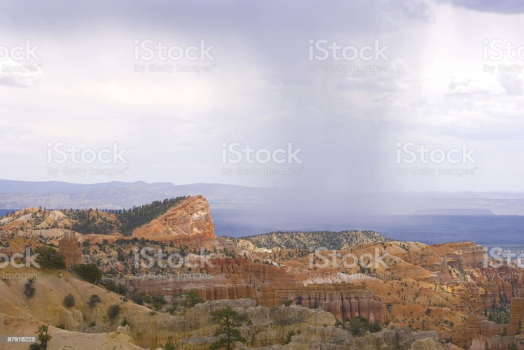 Rainy day in Bryce Canyon royalty-free stock photo