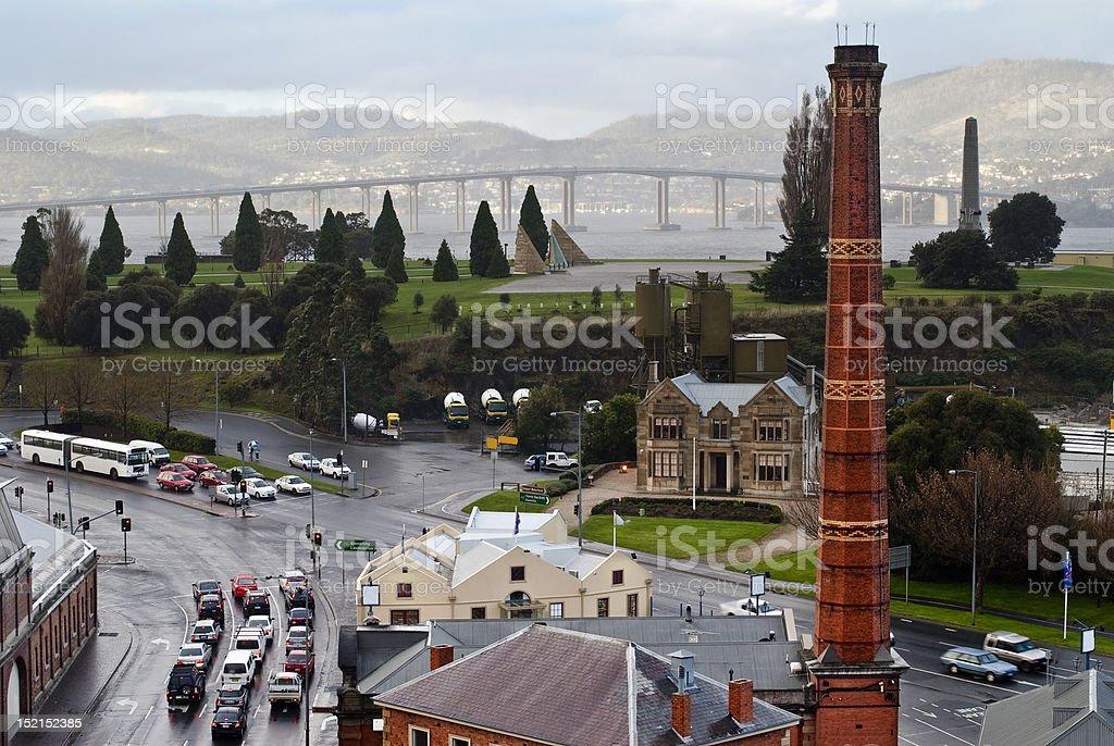 Rainy day in Hobart stock photo