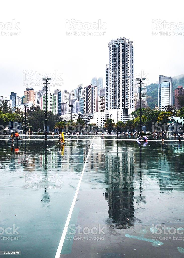 Verregneter Tag in Hongkong. – Foto