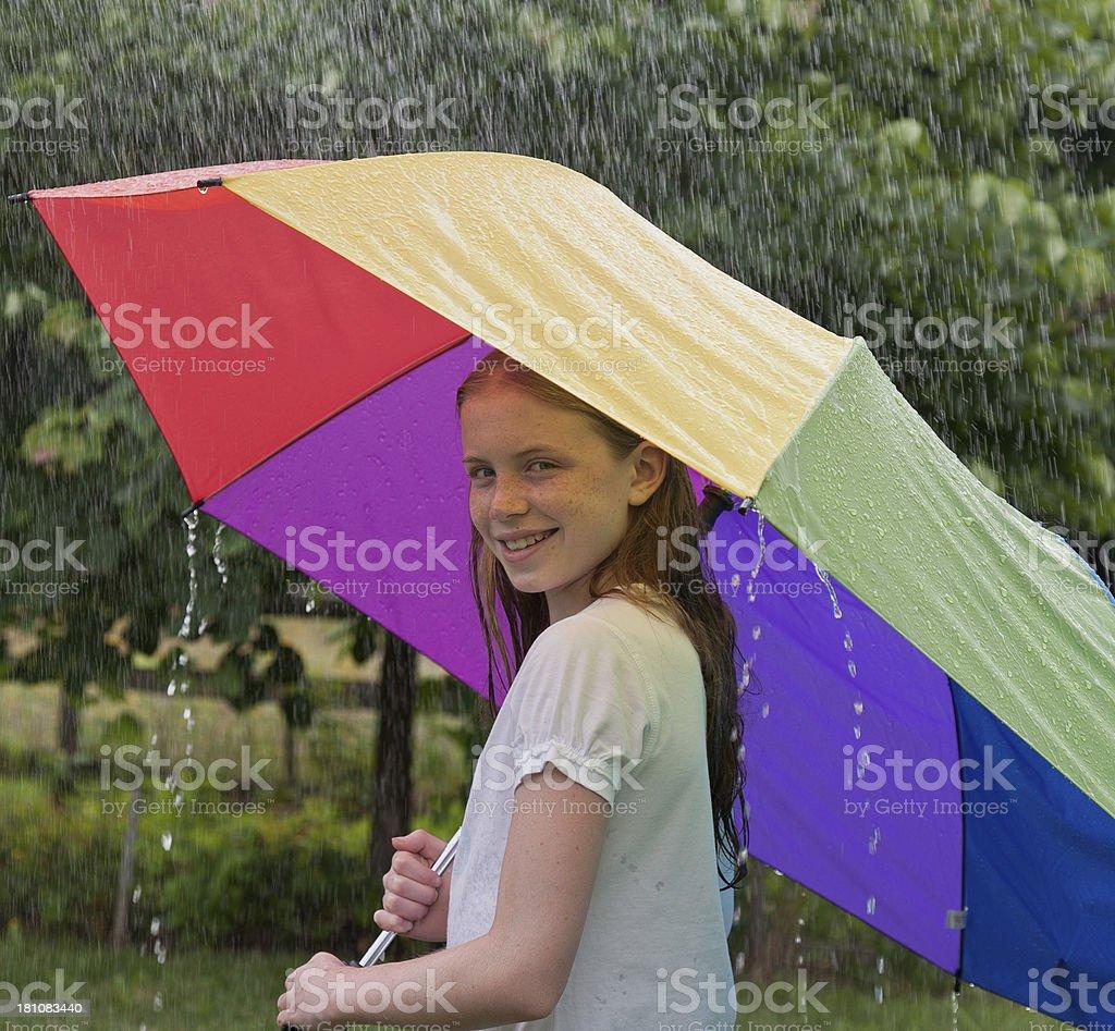 Rainy Day in Summer royalty-free stock photo