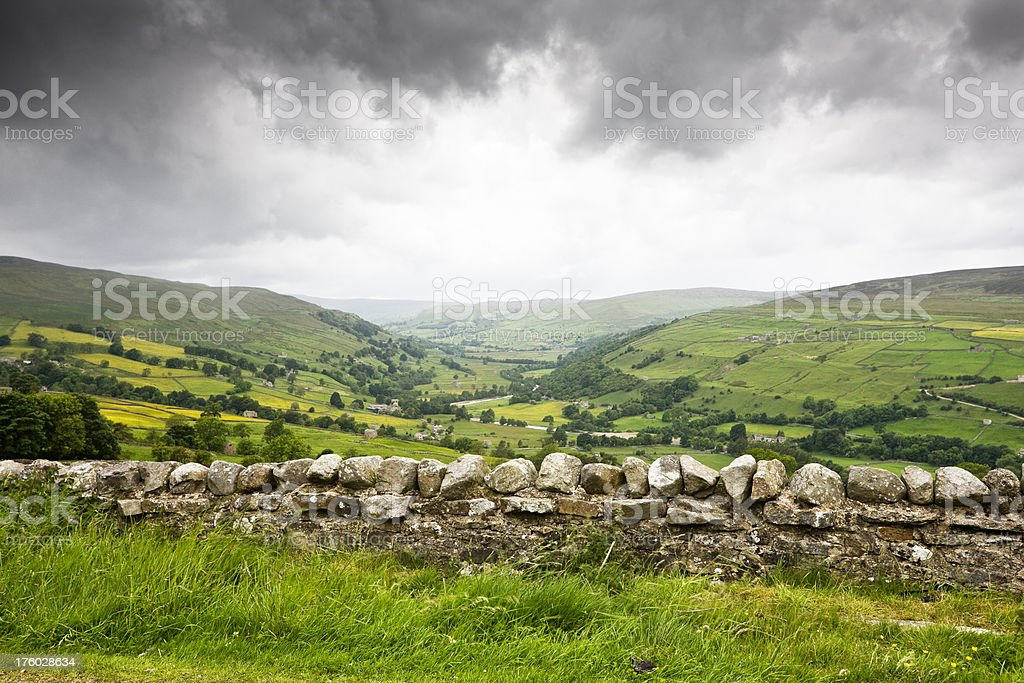 Rainy Day in the Yorkshire Dales royalty-free stock photo