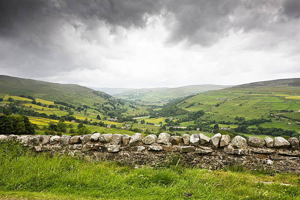 Rainy Day in the Yorkshire Dales stock photo