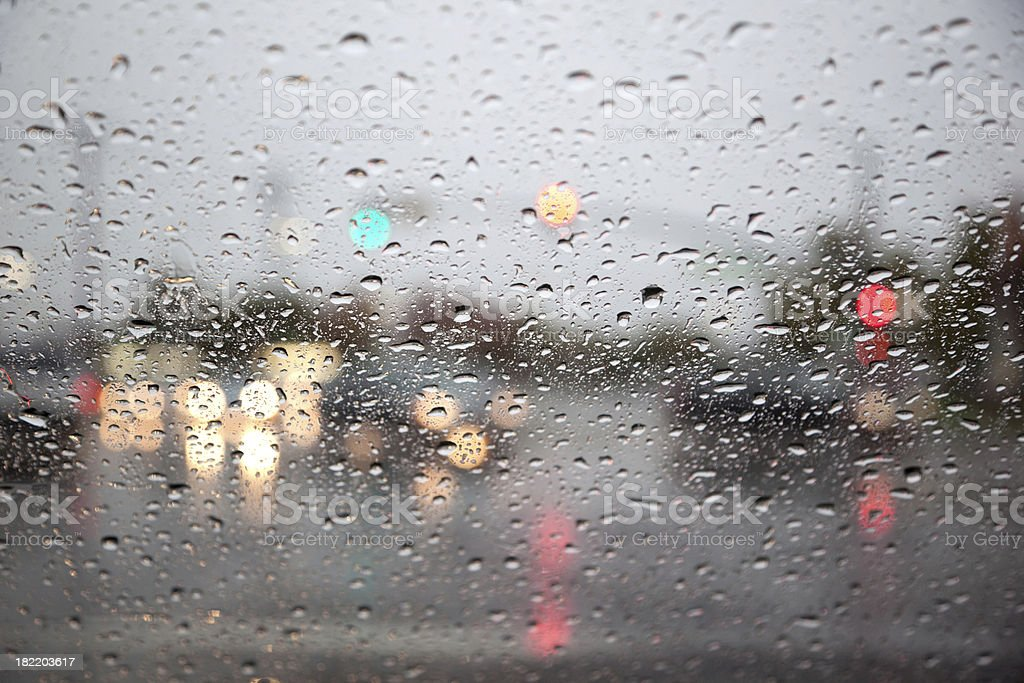 Rainy Day on the Road royalty-free stock photo