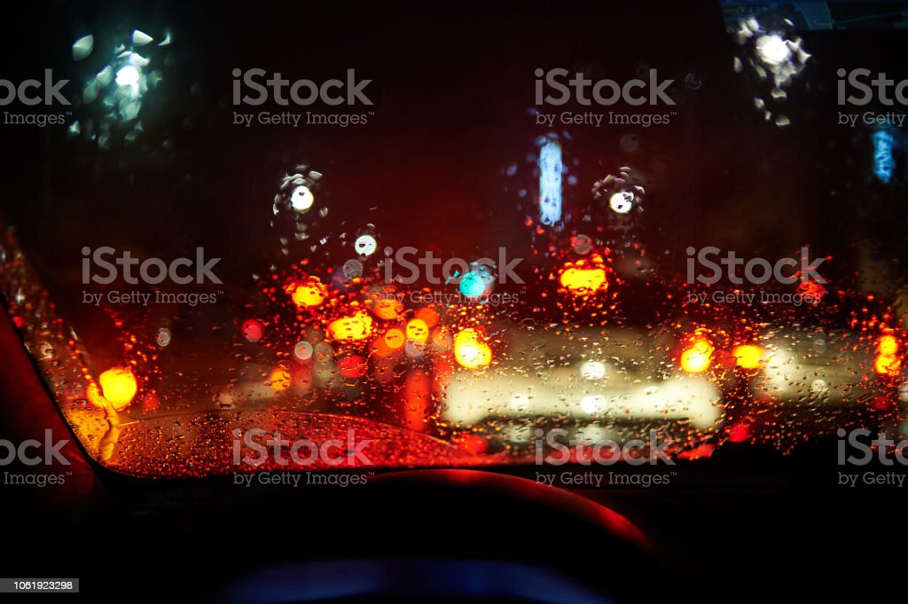 Drive on a rainy day.