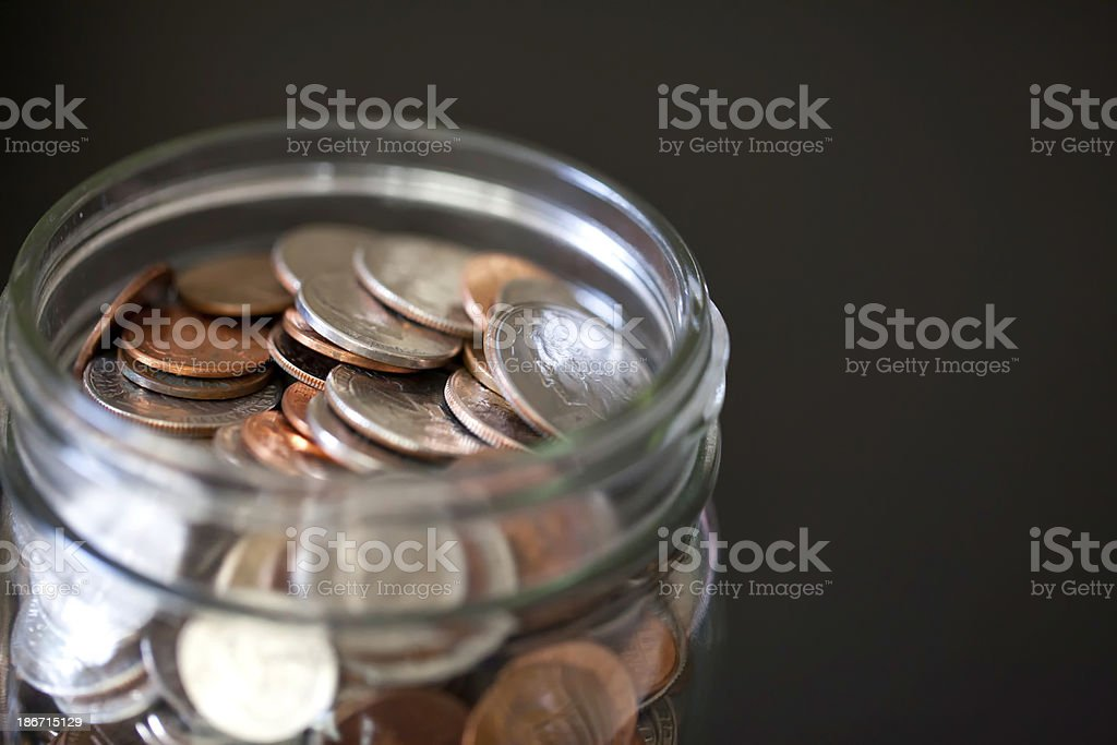 rainy day savings royalty-free stock photo