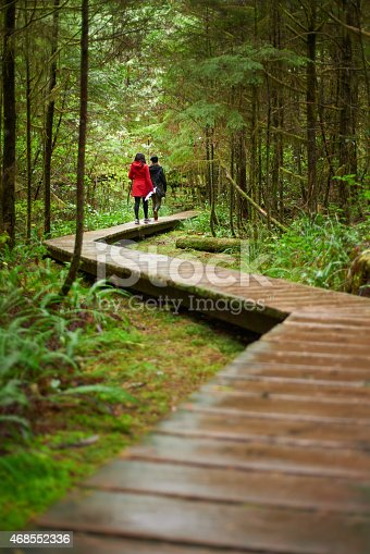 Rearview shot of two young women walking along a boardwalk through a foresthttp://195.154.178.81/DATA/i_collage/pu/shoots/785386.jpg