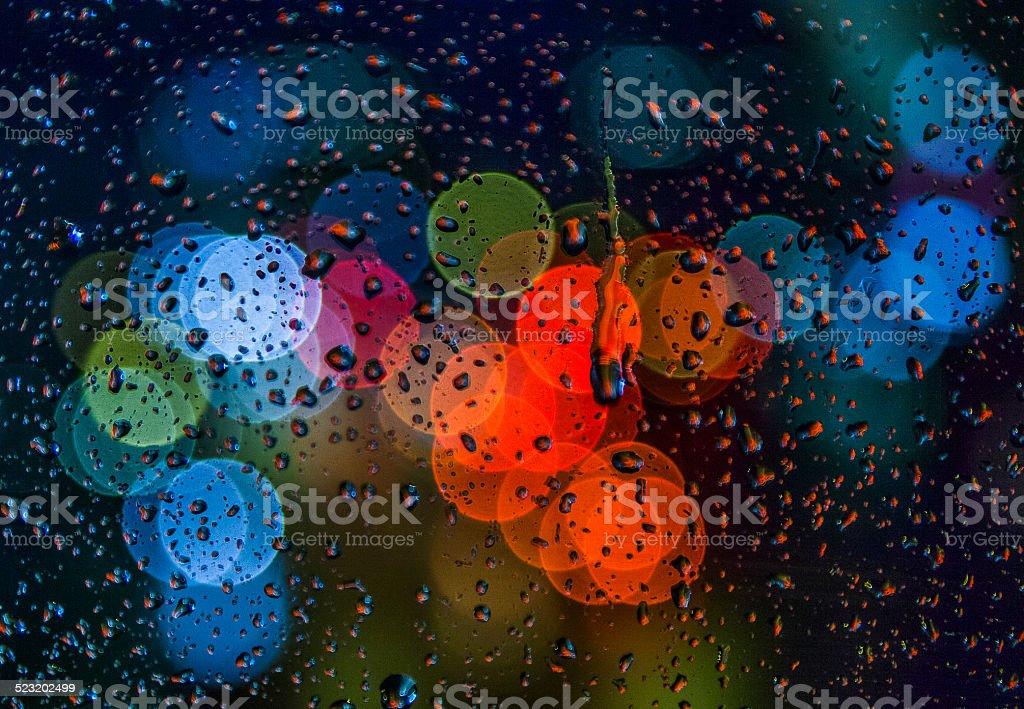 Rainy Daysrain Drops On Windowrainy Weatherrain Background Stock