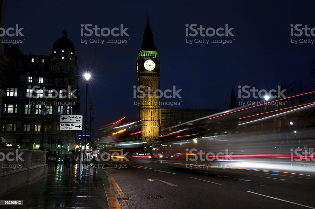 rainy evening in London royalty-free stock photo