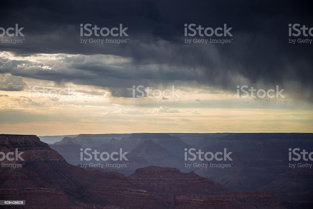 Rainy Haze in the Grand Canyon stock photo