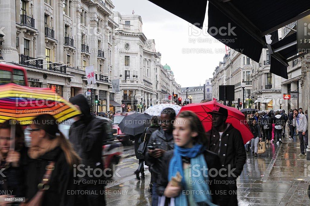 Rainy London royalty-free stock photo