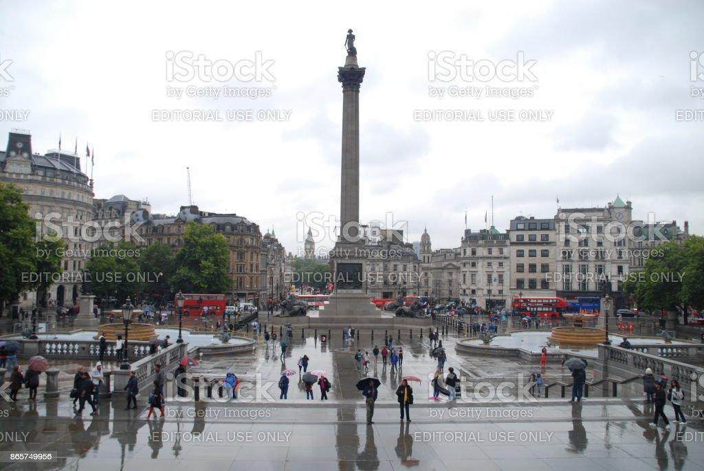 Rainy morning in London stock photo