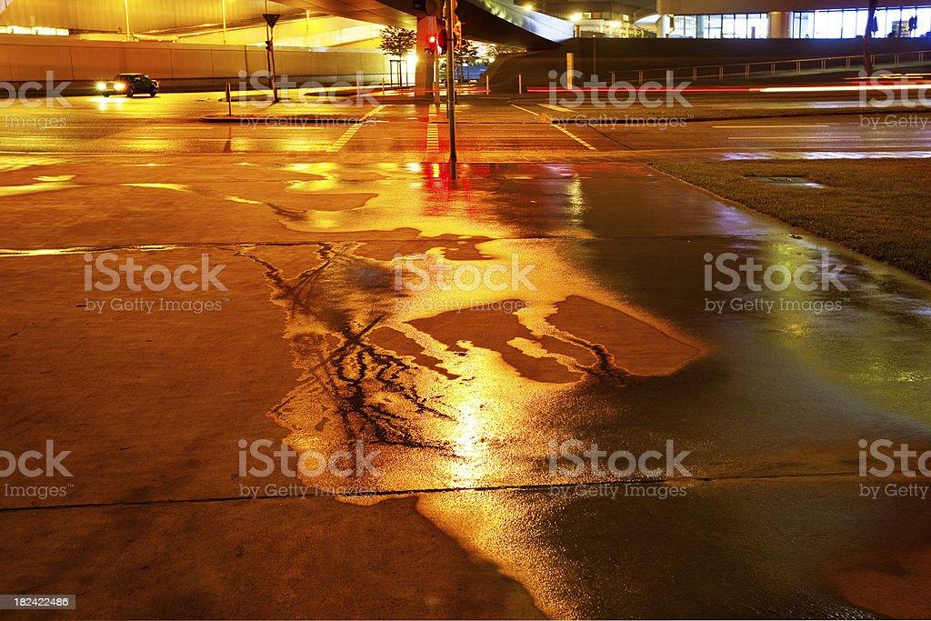 rainy night royalty-free stock photo